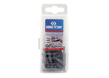 "25 PC. 1/4"" Bit Set (TORX head) KING TONY 102510T-S1"