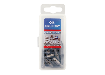 "25 PC. 1/4"" Bit Set (TORX head) KING TONY 102520T-S1"