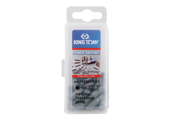 "25 PC. 1/4"" Bit Set (TORX head) KING TONY 102525T-S1"