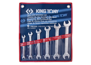 6 PC. Open End Wrench Set KING TONY 1106MR01