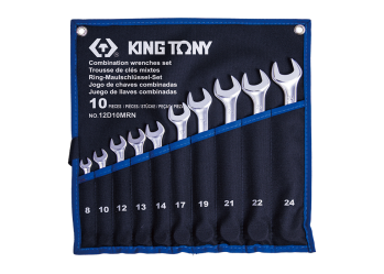10 PC. Combination Wrench Set KING TONY 12D10MRN