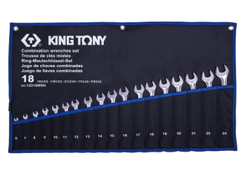 18 PC. Combination Wrench Set KING TONY 12D18MRN