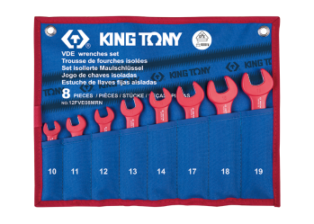 8 PC. VDE Insulated Open End Wrench Set KING TONY 12FVE08MRN