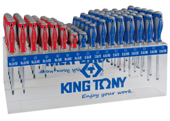 96 PC. Standard Screwdriver Shelf Set KING TONY 31416MR