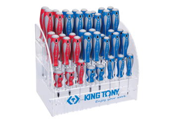 40 PC. Standard Screwdriver Shelf Set KING TONY 31427MR