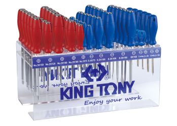 72 PC. Standard & Go Thru Screwdriver Shelf Set KING TONY 31512MR