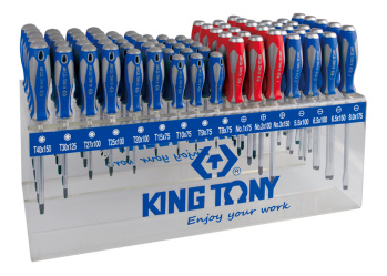 96 PC. Standard & Go Thru Screwdriver Shelf Set KING TONY 31516MR