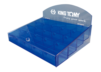 20 Grid Bit Display Box KING TONY 87352