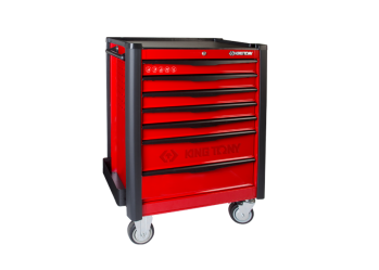 7 Drawers Risk-Free Bumper Type Tool Trolley KING TONY 87934-7BF