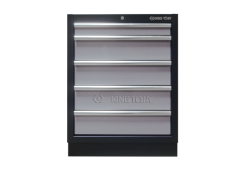 5 Drawers Cabinet (black & gray) KING TONY 87D11-05A-KG