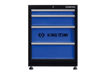 4 Drawers Cabinet (black & blue) KING TONY 87D21-04A-KB
