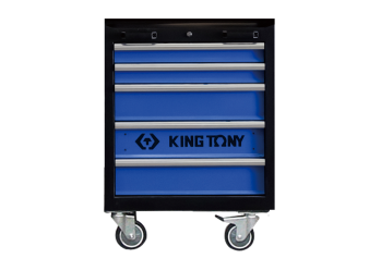 5 Drawers Cabinet (black & blue) KING TONY 87D21-12A-KB