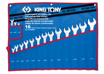 16 PC. Combination Wrench Set KING TONY 1216SRN