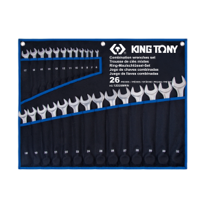 26 PC. Ultra-Light Combination Wrench Set KING TONY 12D26MRN
