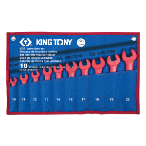 10 PC. VDE Insulated Open End Wrench Set KING TONY 12FVE10MRN