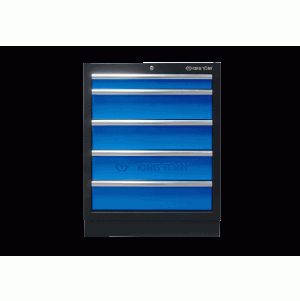 5 Drawers Cabinet (black & blue) | KING TONY | 87D11-05A-KB