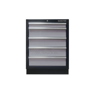 5 Drawers Cabinet (black & gray) | KING TONY | 87D11-05A-KG
