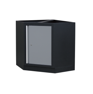 Corner Bottom Cabinet (black & gray) | KING TONY | 87D11-13A-KG