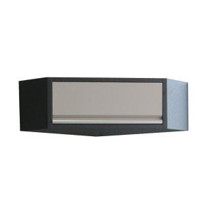 Corner Wall Cabinet (black & gray) | KING TONY | 87D11-15A-KG