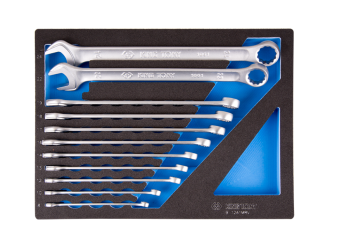 11 PC. Ultra-Light Long Combination Wrench Set  for Trolley (EVA FOAM) KING TONY 9-12A1MRV