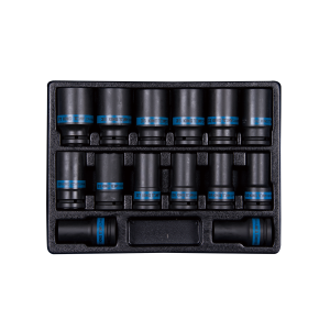 "14 PC. 3/4""DR. 6PT Impact Socket Set for Trolley KING TONY 9-6414MP"