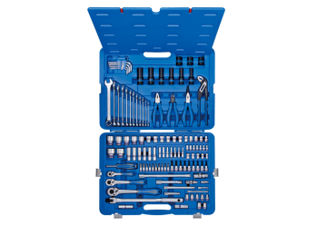"119 PC. 1/4""+3/8""+1/2""DR. Socket & Tool Set KING TONY 9519MR50"