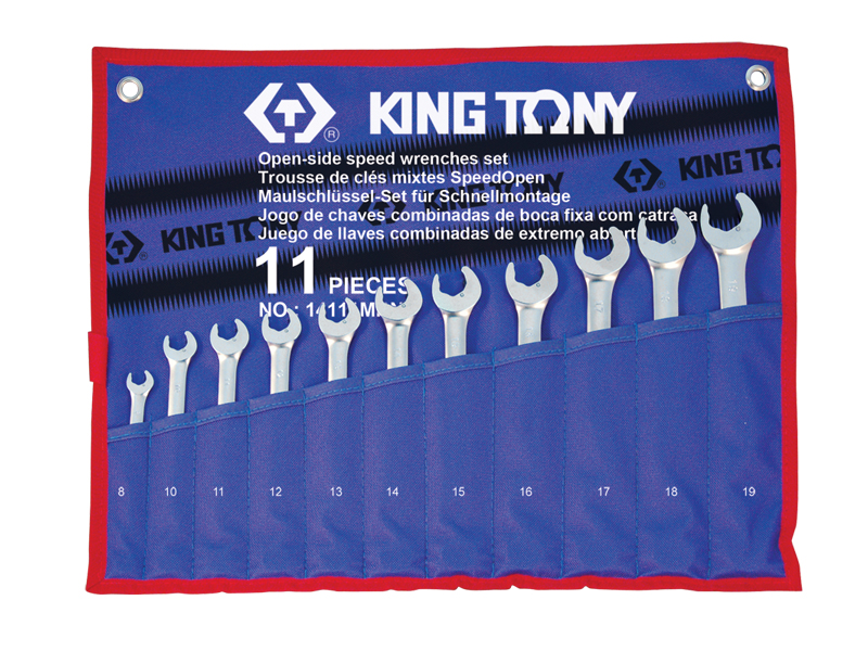 11 PC. Open-side Speed Wrench Set | KING TONY | 14111MRN
