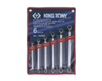6 PC. 45° Offset Ring Wrench Set | KING TONY | 1606MR
