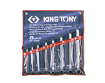 8 PC. 75° Offset Ring Wrench Set | KING TONY | 1708MR