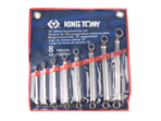 8 PC. 75° Offset Ring Wrench Set | KING TONY | 1708MR01
