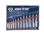 12 PC. 75° Offset Ring Wrench Set | KING TONY | 1712MR