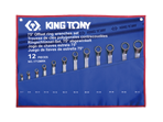 12 PC. 75° Offset Ring Wrench Set | KING TONY | 1712MRN
