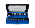 "17 PC. 1/4"" DR Socket & Bit Set 