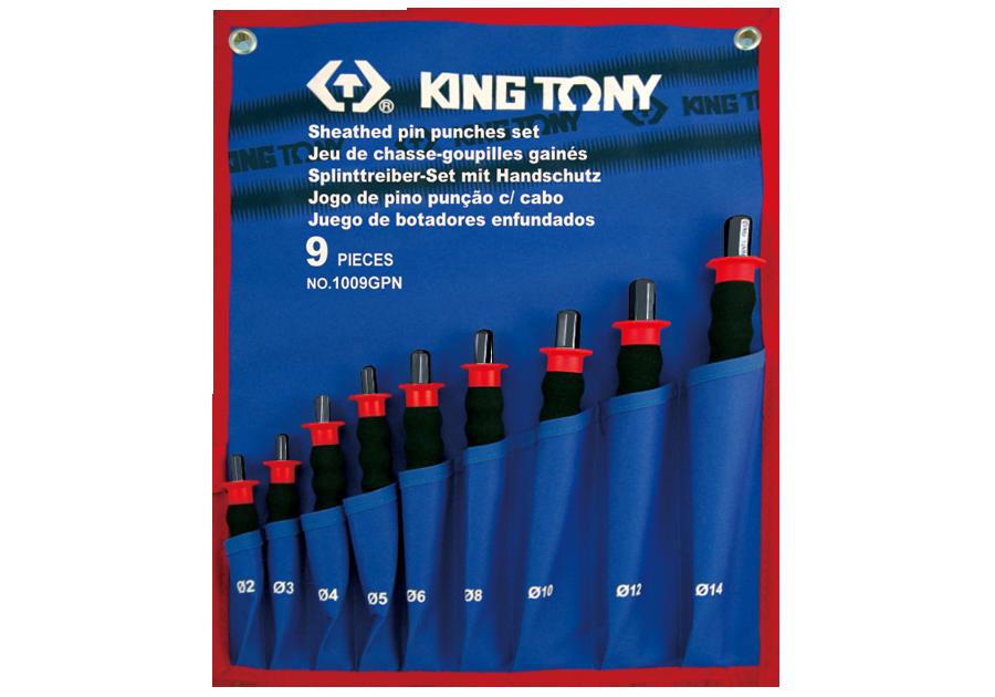 9件式 護把式圓柱鑿子工具組  KING TONY  1009GPN, 永安實業工具購物網