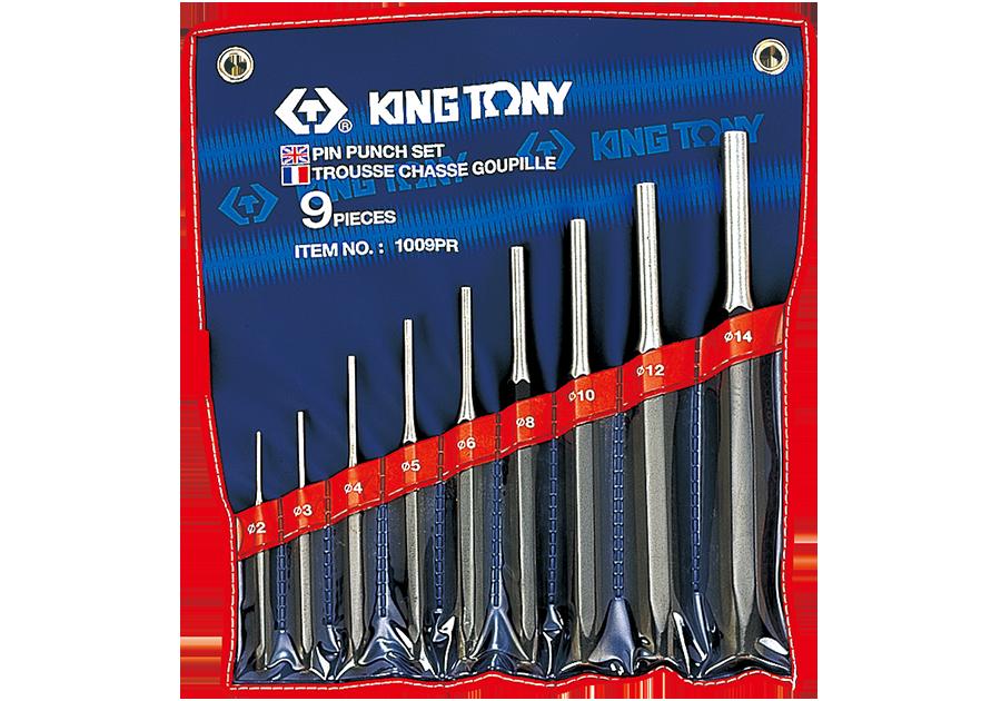 9件式 圓柱鑿子組  KING TONY  1009PR, 永安實業工具購物網