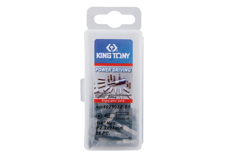 "25 PC. 1/4"" Bit Set (POZIDRIV head)  KING TONY  102502Z-S1"