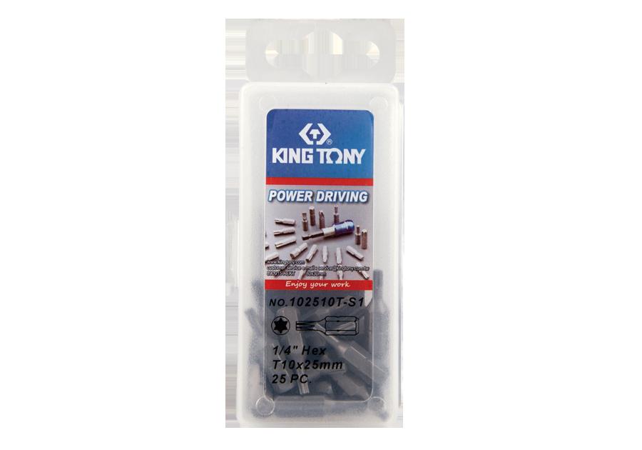 """25件式 1/4"""" 六角星型起子頭  KING TONY  102510T-S1, 永安實業工具購物網"""