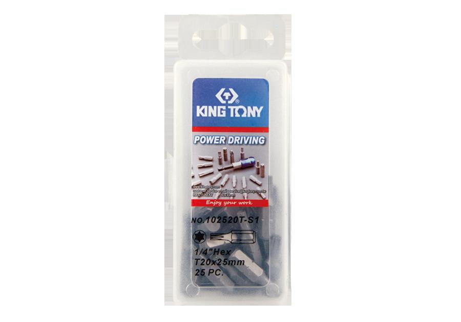 """25件式 1/4"""" 六角星型起子頭  KING TONY  102520T-S1, 永安實業工具購物網"""