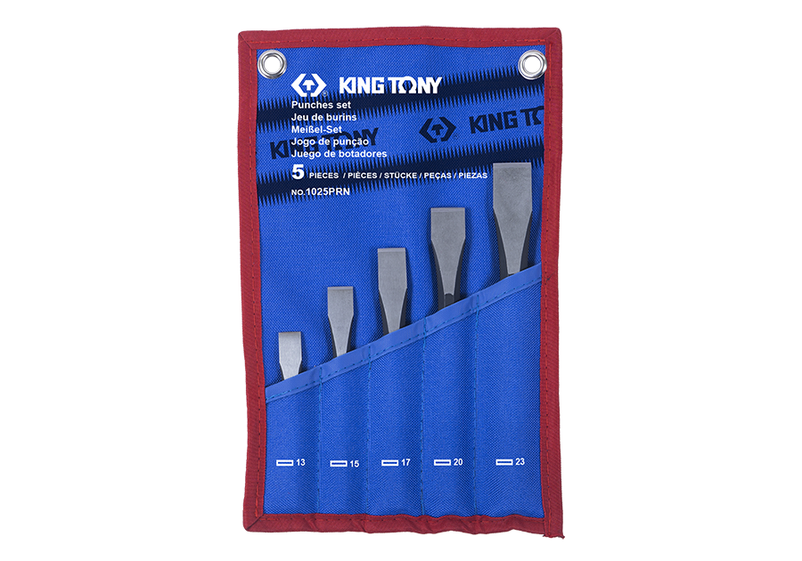 5 PC. Flat Chisel Set  KING TONY  1025PRN