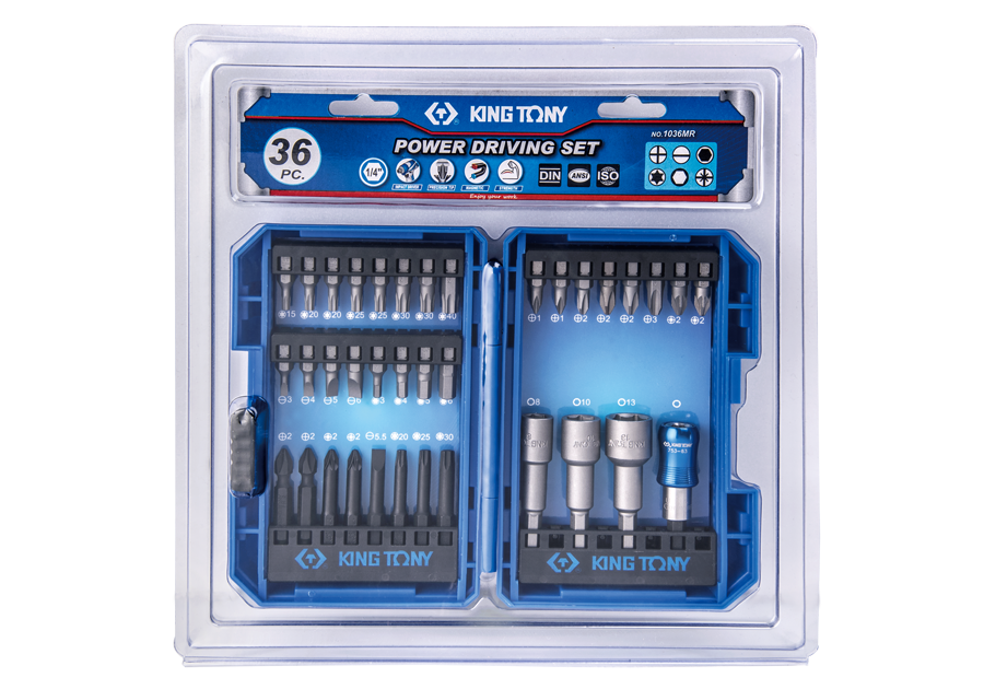 36 PC. Power Bit Set  KING TONY  1036MR