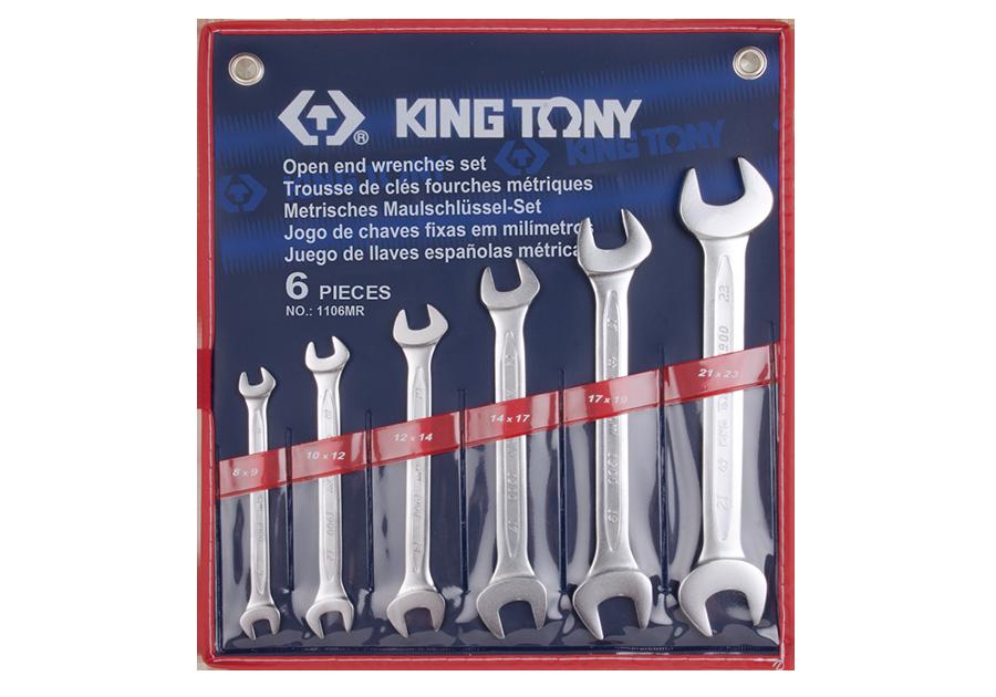 6件式 雙開扳手組 | KING TONY | 1106MR