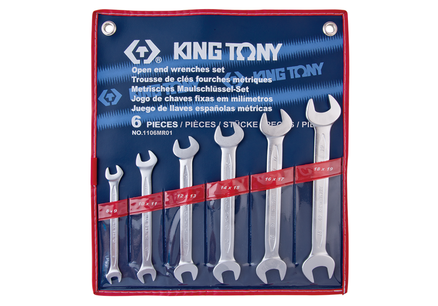 6件式 雙開扳手組  KING TONY  1106MR01, 永安實業工具購物網