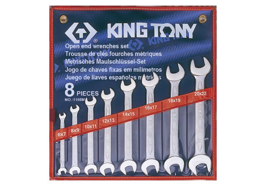 8件式 雙開扳手組 | KING TONY | 1108MR