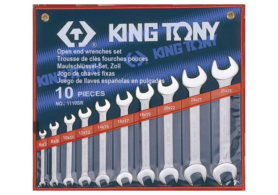 10件式 雙開扳手組 | KING TONY | 1110SR