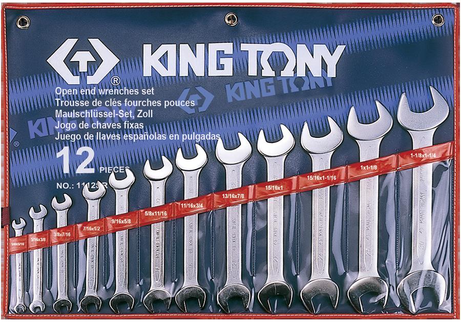 12件式 雙開扳手組 | KING TONY | 1112SR