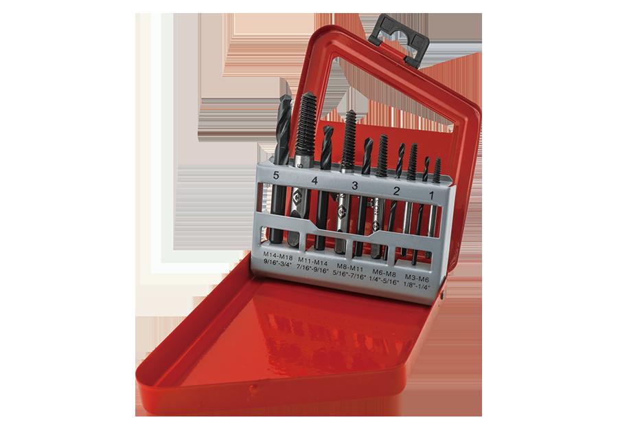 10件式 斷頭螺絲拔取用攻牙與鑽頭組  KING TONY  11310SQ, 永安實業工具購物網