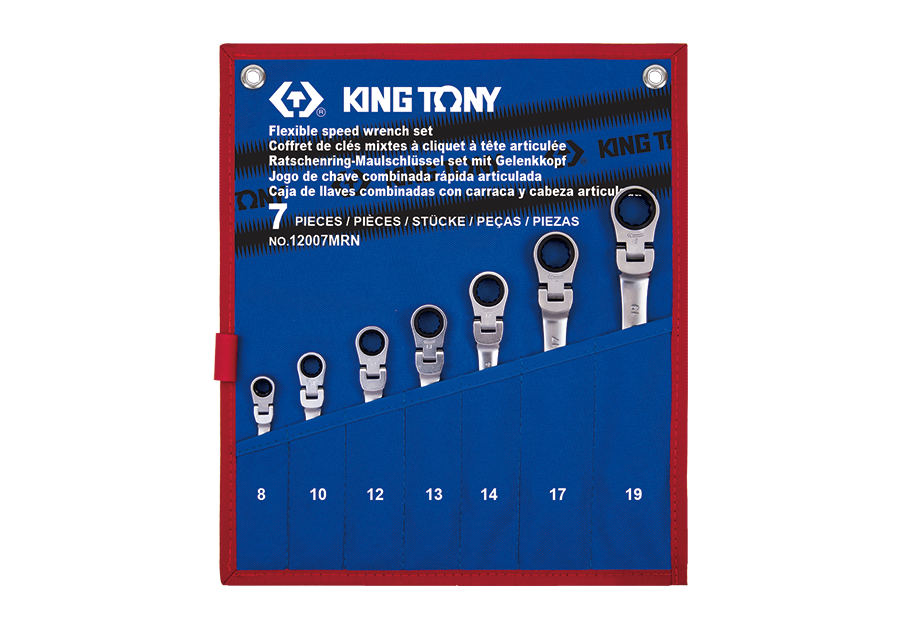 7件式 搖頭式快速棘輪扳手組  KING TONY  12007MRN, 永安實業工具購物網