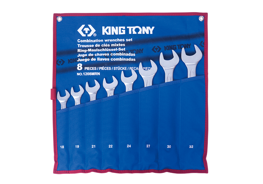 8 PC. Combination Wrench Set  KING TONY  1208MRN