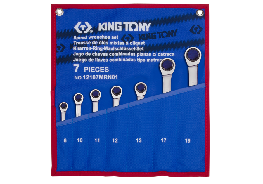7件式 快速棘輪扳手組  KING TONY  12107MRN01, 永安實業工具購物網