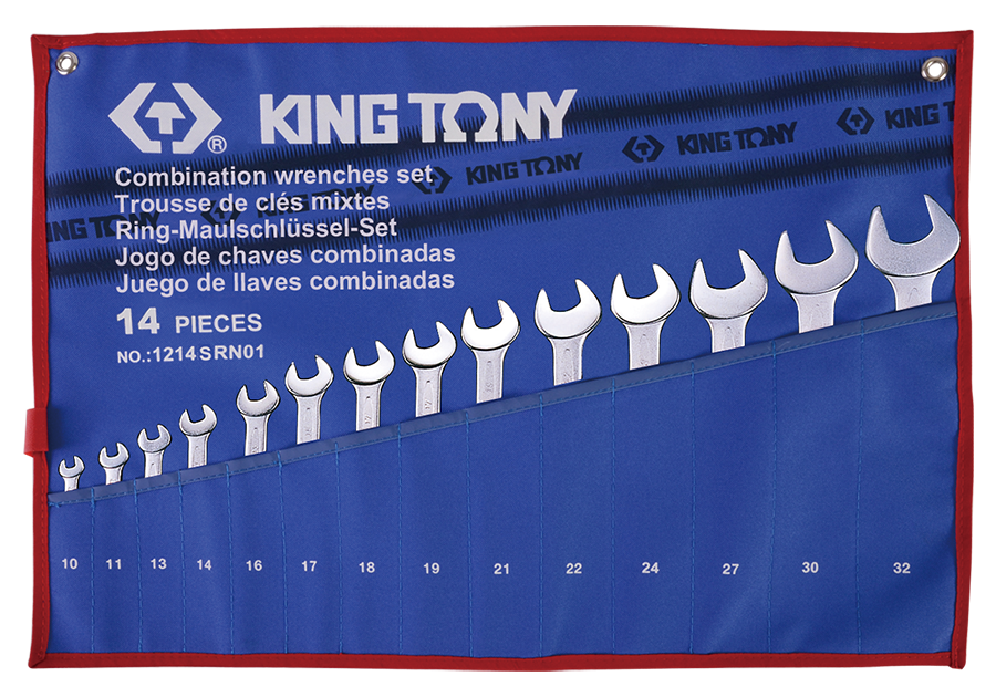 14件式 複合扳手組 | KING TONY | 1214SRN01